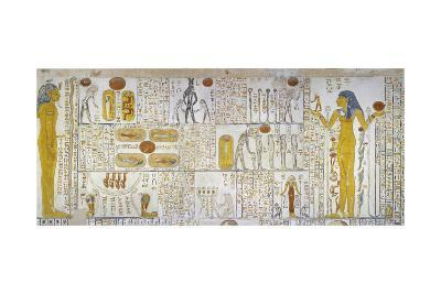 Egypt, Tomb of Ramses VI, Mural Painting from Illustrated Book of Gates and Book of Caverns--Giclee Print