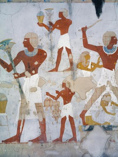 Egypt, Tomb of Royal Cupbearer Suemnut, Mural Paintings, Hunting Scenes and Votive Offerings--Giclee Print
