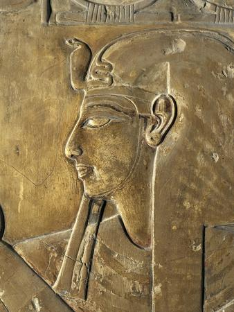 Egypt Valley of the Kings, Close-Up of Relief in Corridor Representing Pharaoh, Tomb of Seti I--Giclee Print