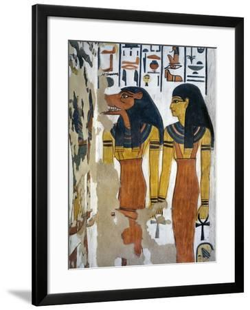 Egypt, Valley of the Queens, Tomb of Nefertari, Mural Painting in Burial Chamber--Framed Giclee Print