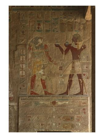 Chapel of Anubis, Mortuary Temple of Hatshepsut (C.1503-1482 BC) New Kingdom (Painted Limestone)