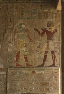Chapel of Anubis, Mortuary Temple of Hatshepsut (C.1503-1482 BC) New Kingdom (Painted Limestone) by Egyptian 18th Dynasty