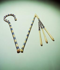 Crook and Flail, from the Tomb of Tutankhamun by Egyptian 18th Dynasty