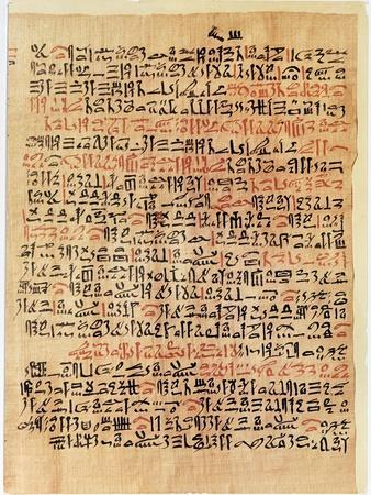 Fragment of the Ebers Papyrus, New Kingdom, c.1550 BC