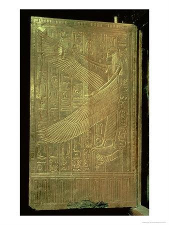 Goddess Isis, Inside of One of the Double Doors of the Third Gilded Shrine, Tomb of Tutankhamun