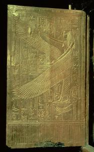 Goddess Isis, Inside of One of the Double Doors of the Third Gilded Shrine, Tomb of Tutankhamun by Egyptian 18th Dynasty