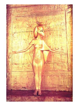 The Goddess Selket on the Canopic Shrine, from the Tomb of Tutankhamun