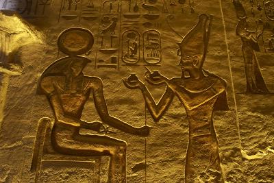 Egyptian Art. Great Temple of Ramses II. Relief Depicting the Pharaoh Ramses II Making an…--Giclee Print