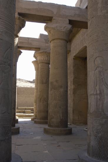 Egyptian Art, Temple of Kom Ombo, Papyrus Columns--Photographic Print