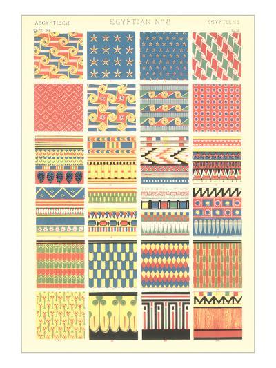 Egyptian Borders and Motifs--Art Print