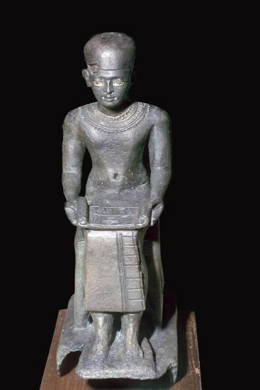 Egyptian bronze statuette of Imhotep, 27th century BC. Artist: Unknown-Unknown-Giclee Print