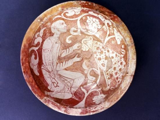 Egyptian Ceramic Bowl, C11th Century--Photographic Print