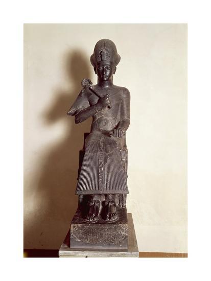 Egyptian Civilization, Black Basalt Statue of Pharaoh Ramses II, from  Karnak Giclee Print by | Art com