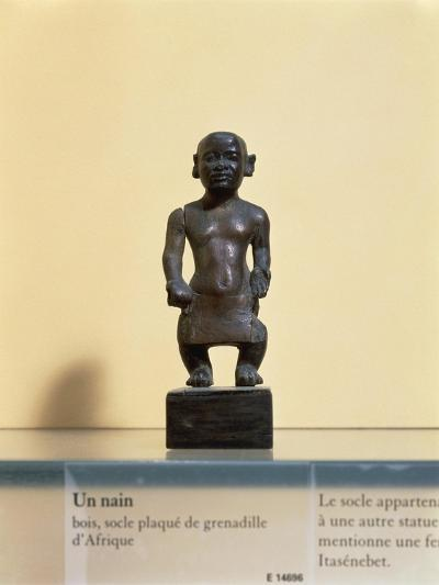 Egyptian Civilization. Wooden Statue of a Dwarf--Giclee Print