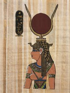 Cleopatra VII, Reconstruction of a Relief From the Temple of Kom Ombo by Egyptian