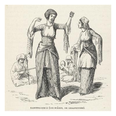 Egyptian Dancing Girls - Ghawazee or Ghazeeyehs--Giclee Print