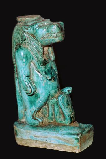 Egyptian faience statuette of the Egyptian goddess Tauret. Artist: Unknown-Unknown-Giclee Print