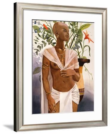 Egyptian Flower-Keith Morris-Framed Art Print