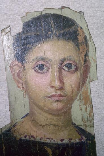 Egyptian funerary portrait of a young woman. Artist: Unknown-Unknown-Giclee Print