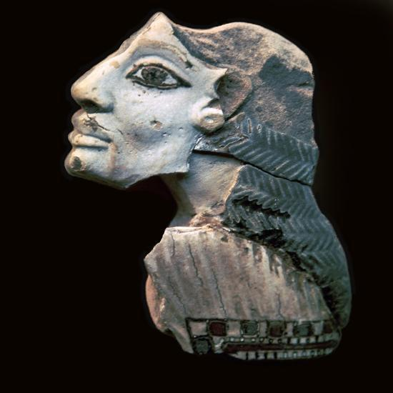 Egyptian glazed relief of a Lybian captive. Artist: Unknown-Unknown-Giclee Print