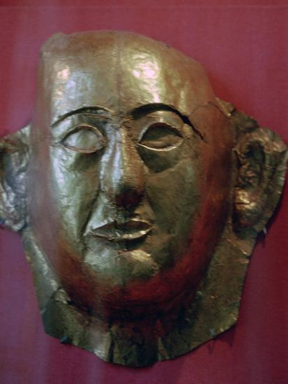 Egyptian gold death mask of Prince Khaemweset, 13th century BC. Artist: Unknown-Unknown-Giclee Print