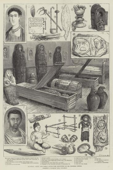 Egyptian, Greek, and Roman Antiquities Discovered by Mr Flinders Petrie--Giclee Print