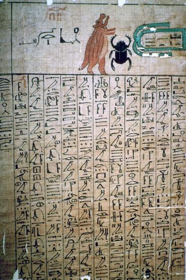 Egyptian hieroglyphs from a Book of the Dead. Artist: Unknown-Unknown-Giclee Print