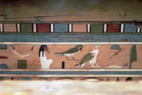 Egyptian Hieroglyphs on inner wall of coffin of steward, Seni, El Bersha, Egypt, c2000 BC-Unknown-Giclee Print
