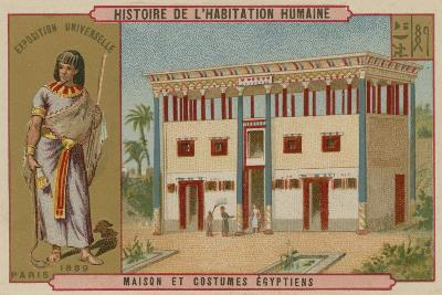 Egyptian House and Costumes--Giclee Print