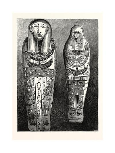 Egyptian Mummy and Case in the British Museum, London, UK--Giclee Print