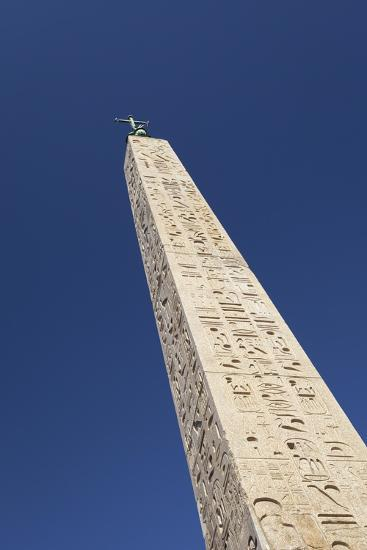 Egyptian Obelisk at Piazza Del Popolo, Rome, Italy--Giclee Print