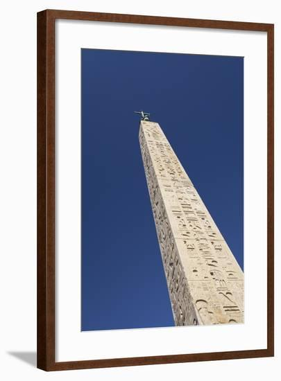 Egyptian Obelisk at Piazza Del Popolo, Rome, Italy--Framed Giclee Print