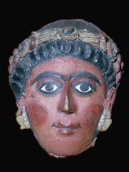 Egyptian painted funerary mask, 2nd century BC. Artist: Unknown-Unknown-Giclee Print