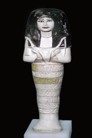 Egyptian painted limestone shabti. Artist: Unknown-Unknown-Giclee Print