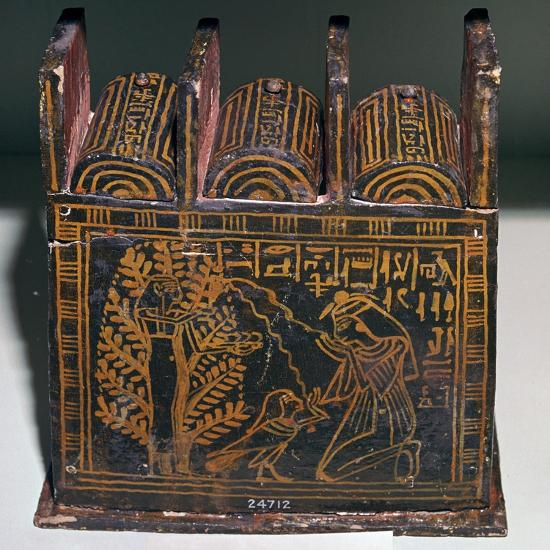 Egyptian painted shabti-box of Anhai-Unknown-Giclee Print