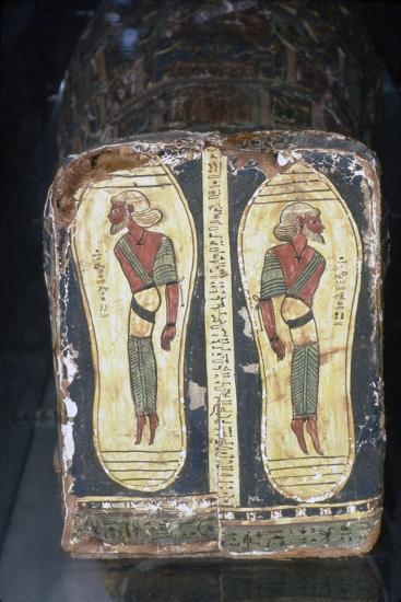 Egyptian Painting of Captives on Feet of Mummy of a Pharaoh-Unknown-Giclee Print