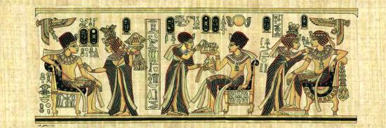 Egyptian Papyrus, Design I--Art Print