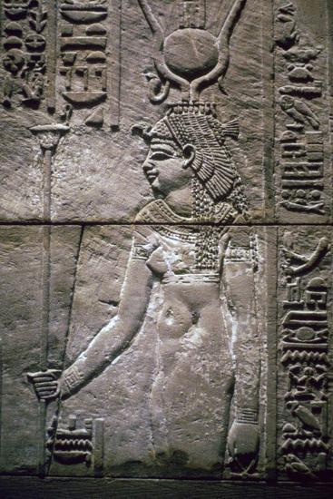 Egyptian relief of the goddess Isis. Artist: Unknown-Unknown-Giclee Print