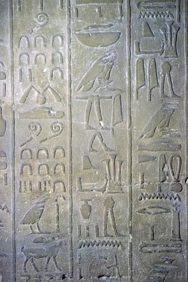 Egyptian relief showing the annals of Tuthmosis III. Artist: Unknown-Unknown-Giclee Print
