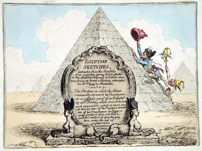 Egyptian Sketches, Published Hannah Humphrey in 1799-James Gillray-Giclee Print