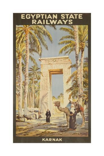 Egyptian State Railways Travel Poster Karnak--Giclee Print