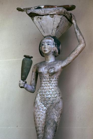 Egyptian statuette of a woman bearing offerings, 22nd century BC. Artist: Unknown-Unknown-Giclee Print
