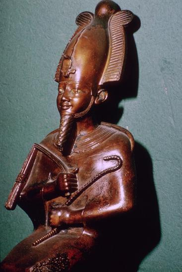 Egyptian statuette of Osiris. Artist: Unknown-Unknown-Giclee Print