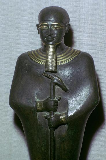 Egyptian statuette of Ptah. Artist: Unknown-Unknown-Giclee Print