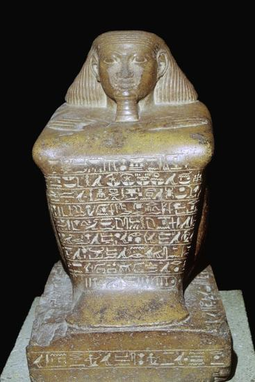 Egyptian statuette of Senenmut. Artist: Unknown-Unknown-Giclee Print