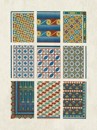Egyptian Treasures - Mosaic-Historic Collection-Giclee Print