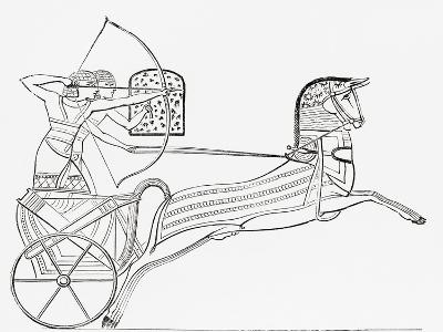 Egyptian War Chariot, from the Imperial Bible Dictionary, Published 1889--Giclee Print