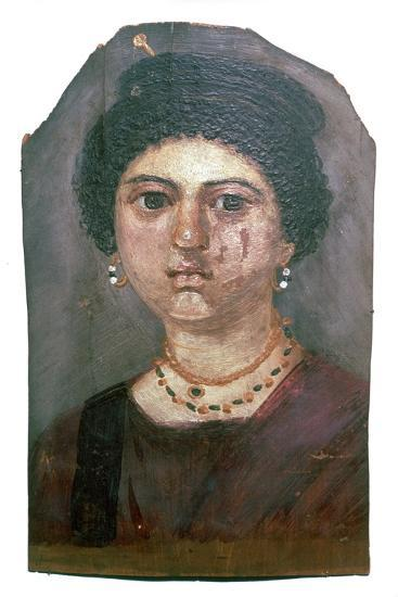 Egyptian wax portrait of a lady, 2nd century-Unknown-Giclee Print