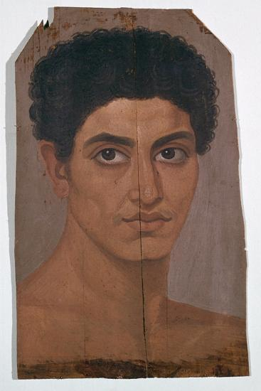 Egyptian wax portrait of a young man, 2nd century-Unknown-Giclee Print