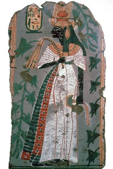 Egytian wall-painting of queen Ahmose-Nefertari, 16th century BC Artist: Unknown-Unknown-Giclee Print